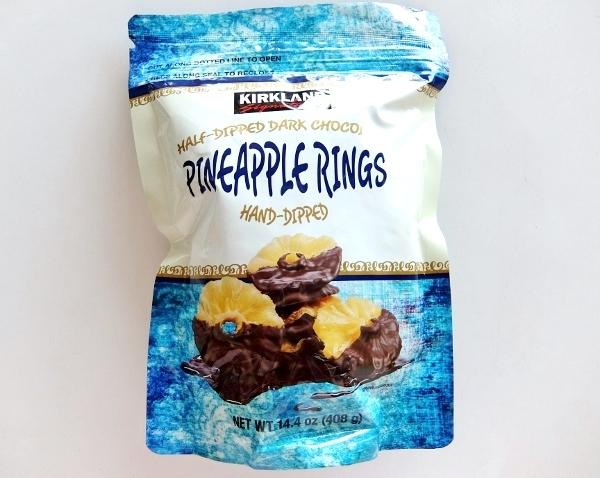 コストコ KS チョコレートパイナップル 円 カークランド ハーフディップ ダークチョコレート パイナップルリング