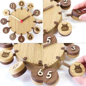 コド木工_おひさまクロック_木製壁掛け時計