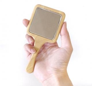 プチミラー_木製 手鏡_小さな手鏡
