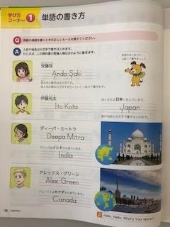 中1英語の教科書