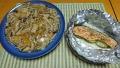 鮭とズッキーニのホイル蒸し 卵焼きのきのこあんかけ 20190807