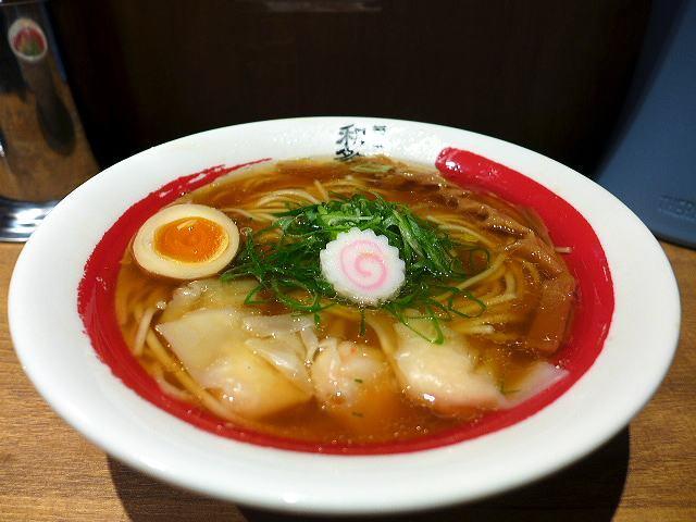 麺と和多志@01海老醤油ワンタン麺 1