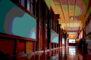 木造校舎(廊下)