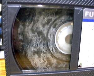 カビの生えたビデオテープ
