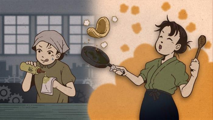 『あちこちのすずさん』機械油で焼いたホットケーキ