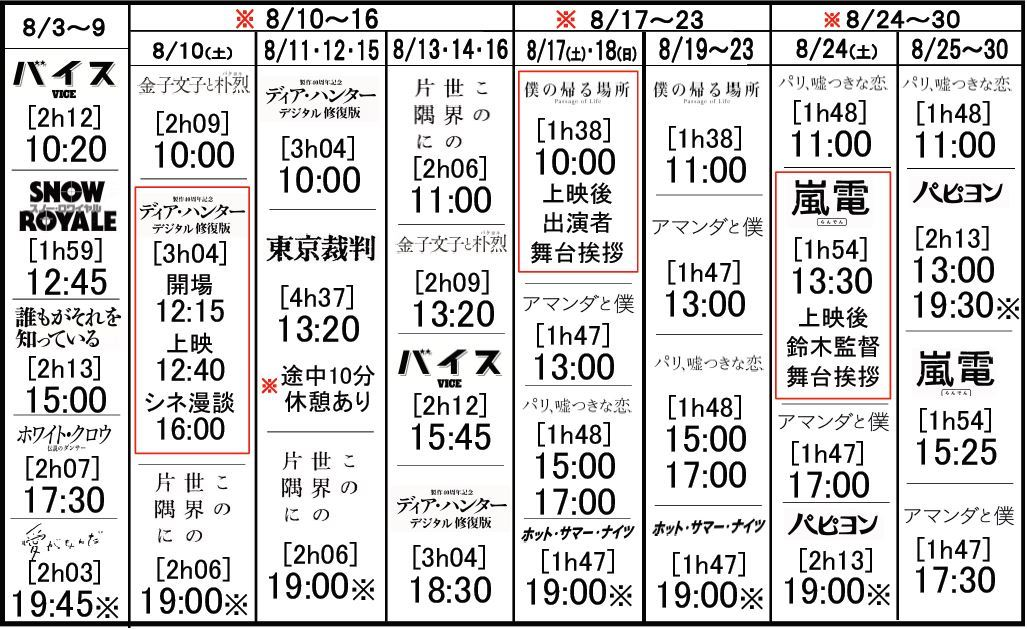 福井メトロ会館 2019年8月