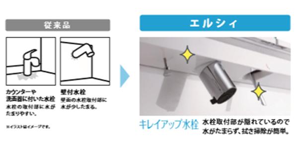 きれいアップ水栓
