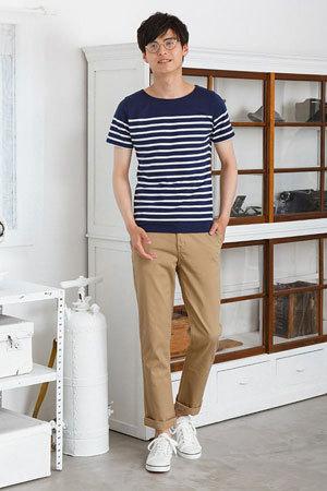2019夏 Tシャツコーディネート 参考 メンズファッション6
