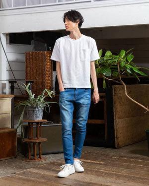 2019夏 Tシャツコーディネート 参考 メンズファッション4