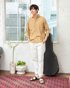 2019夏 ホワイト 白 爽やかメンズコーディネート4