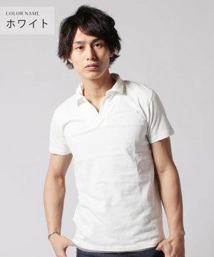 白 ホワイト 半袖ポロシャツ 2019-1