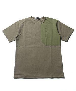 ポケットTシャツ 2019メンズファッション サイドスリット1
