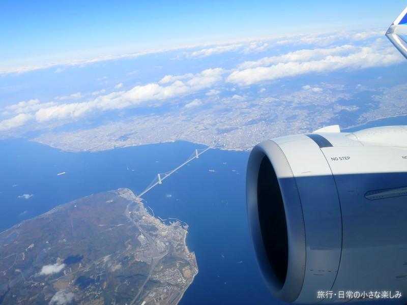 明石海峡大橋 飛行機