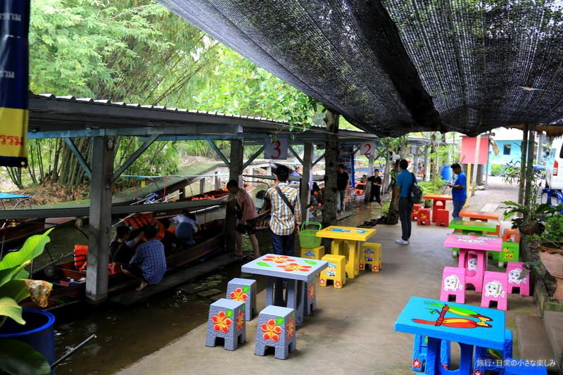 ダムヌーン サドゥアク水上マーケット タイ バンコク