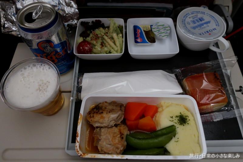 機内食 シンガポール航空(SQ621) KIX-SIN