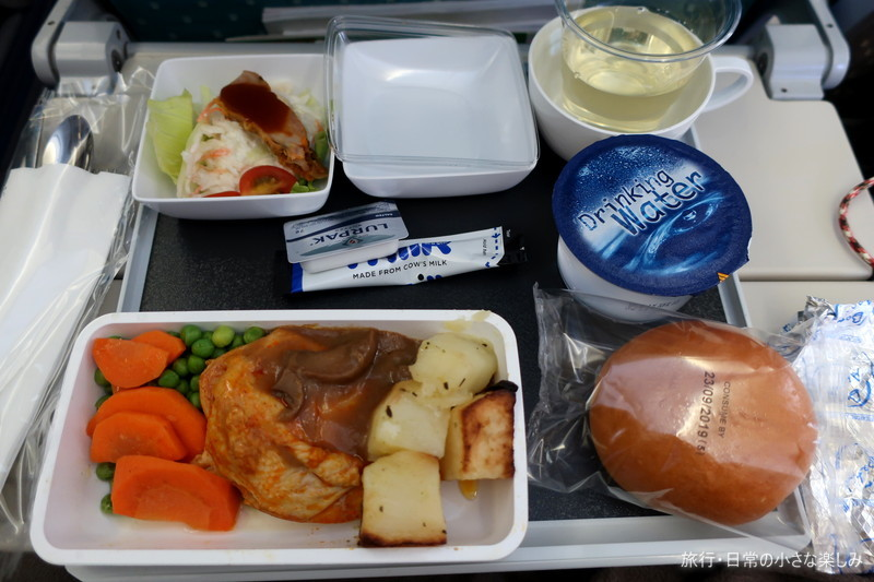 SQ620 シンガポール航空 機内食 鶏むね肉