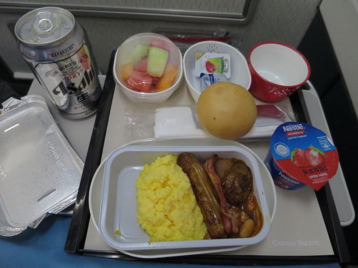 CX 597 機内食 朝食