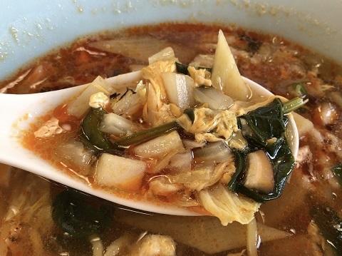 酸辣湯麺スープ