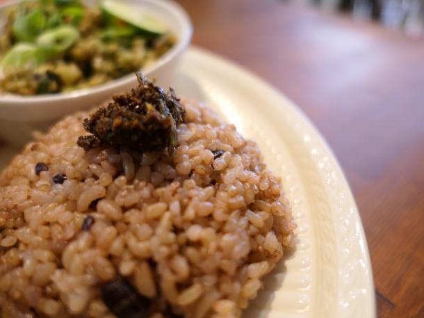 玄米ごはんプレート