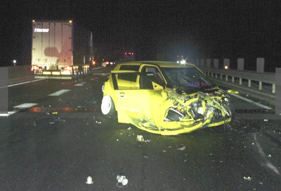 三原市 中国自動車道 4台事故