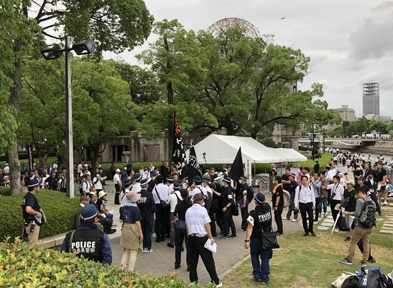 2019年平和記念式典 拡声器デモ