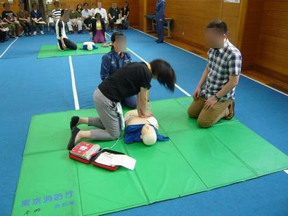 消火訓練とAED講習