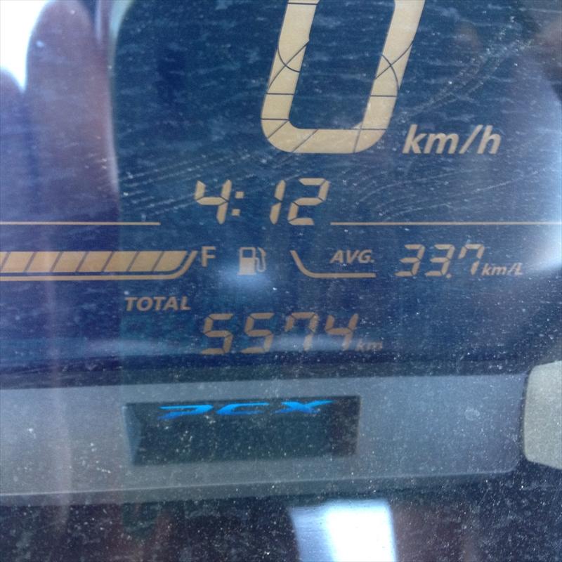 PCX150の燃費001