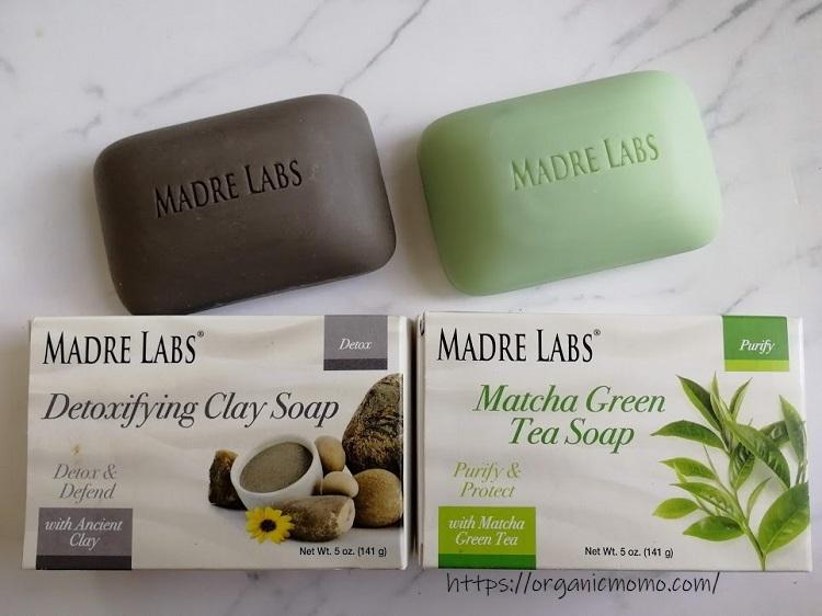 MadreLabsの石鹸(クレイ/緑茶)1