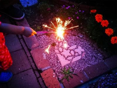 2019年夏祭りの夜花火