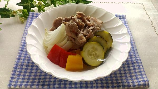 豚肉とズッキーニのカンタン酢煮