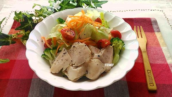 炊飯器で鶏むね肉のサラダチキン