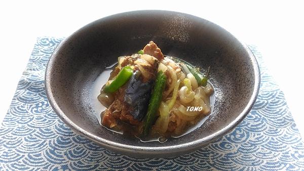 サバ味噌煮缶と玉ねぎの煮物2