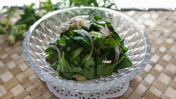 空心菜とツナ缶のポン酢サラダ