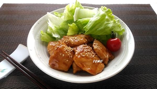 鶏むね肉の甘辛生姜炒め1