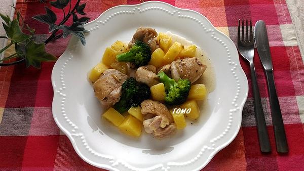 鶏肉とジャガイモのソテー
