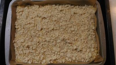 米油のリンゴのクランブルケーキ