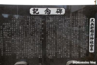 久兵衛稲荷神社(三郷市高州)6