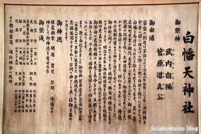 白幡天神社(市川市菅野)5