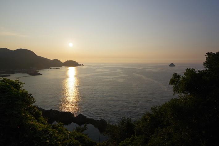 日本海と夕陽①