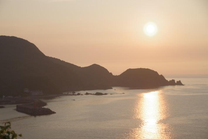 日本海と夕陽②