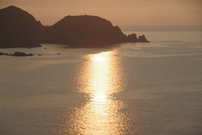 日本海と夕陽③