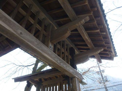 碓氷関所跡正面側屋根