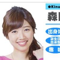 森田絹子アナ