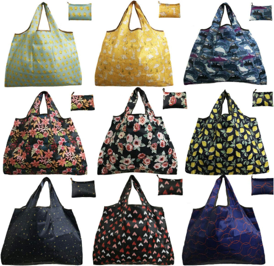 feifeibujiabingの持ち運びが楽な買い物袋はデザインが豊富