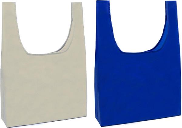 HOLYLUCKの持ち運びが楽な買い物袋グレーとブルー