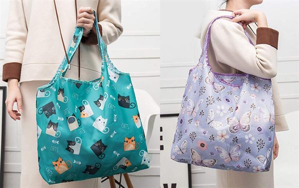 薩牧徳の長持ち買い物袋の持ち方例