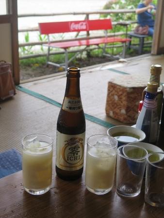 ビールと冷し甘酒