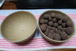 花火玉のお菓子