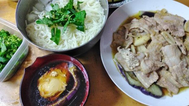 そーめん生姜焼き (3)