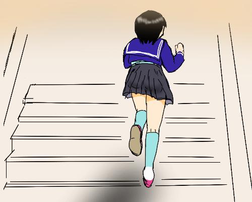 階段  ぽら 影